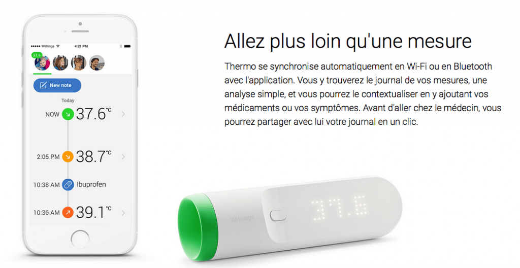 Innovation française lors du CES 2016 : Thermo de Withings
